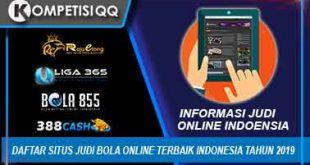 Daftar Situs Judi Bola Online Terbaik Indonesia Tahun 2019